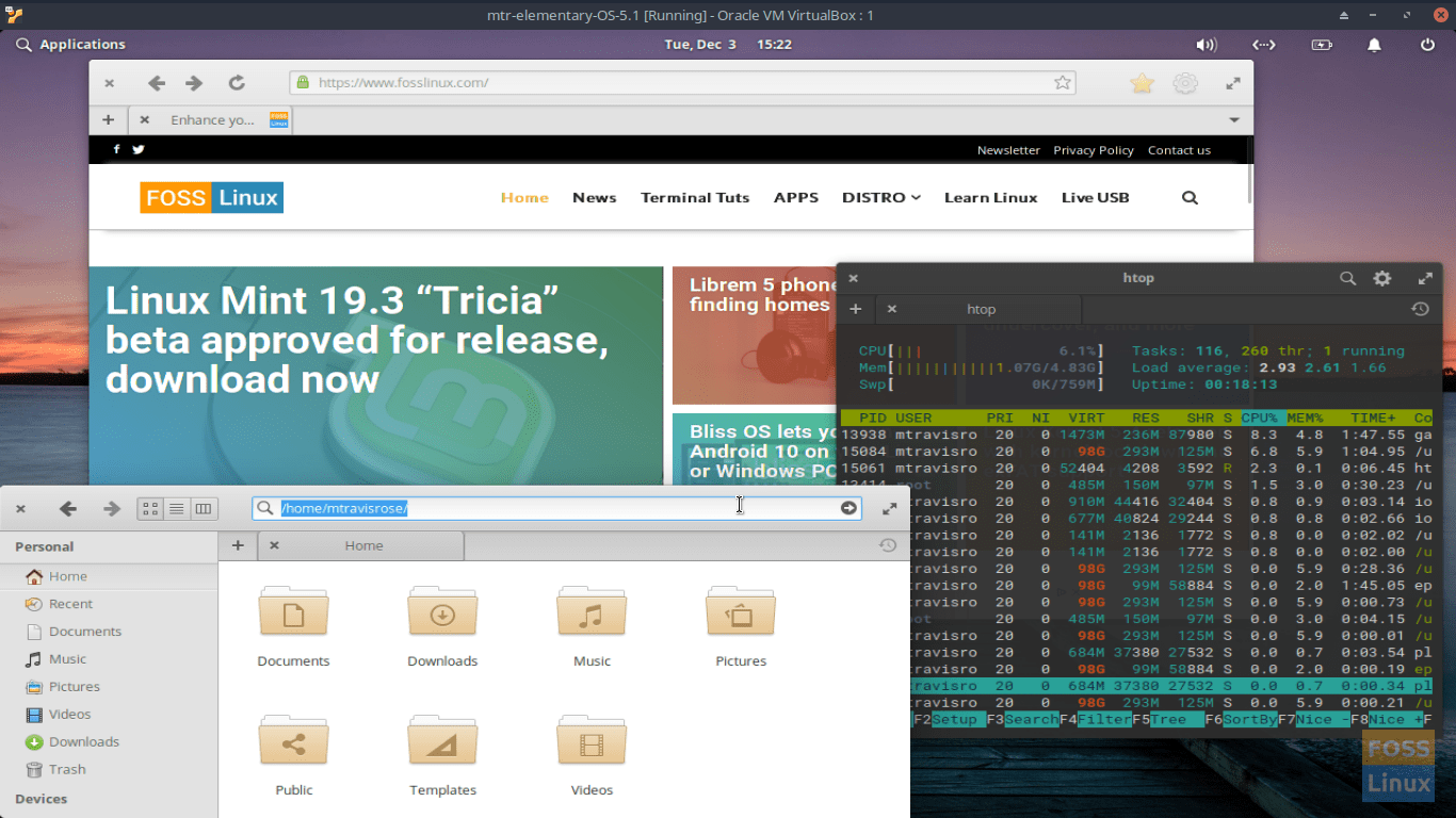 elementary OS 5.1 - In Action